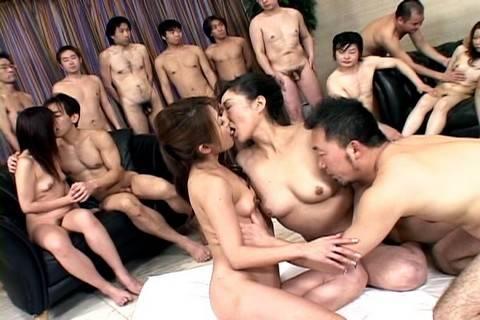 Sanae Miyama and girlfriend in hot group sex
